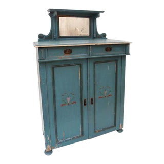 Swedish Painted Cabinet For Sale