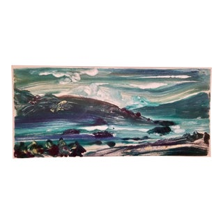 Adirondack Storm Over Tongue Mountain Painting by Nancy Rogal For Sale