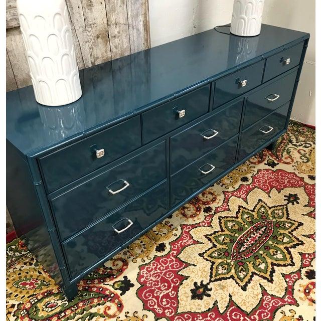 Blue Dresser | High Gloss Blue Dresser - Image 4 of 9