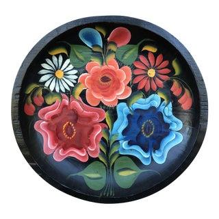 20th Century Mexican Folk Art Batea Bowl For Sale