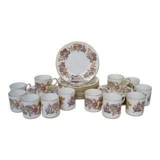 Wedgwood Bone China Dessert Set, 36 Pieces For Sale