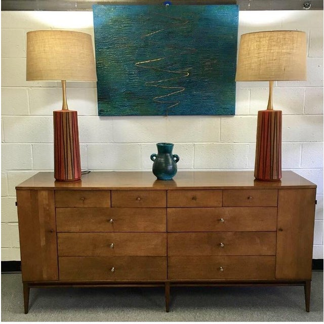 Mid-Century Ceramic Table Lamps - A Pair - Image 11 of 11