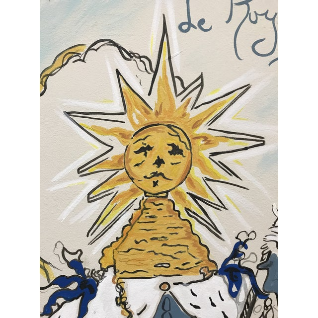 Illustration Schiaparelli Le Roy Soleil Advertising Perfume Redesigned Painting For Sale - Image 3 of 7