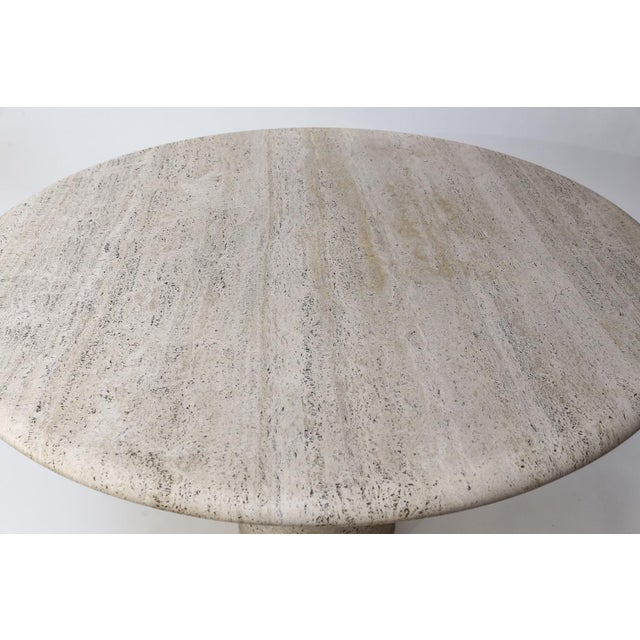 1970s Round Travertine Table Attributed to Angelo Mangiarotti For Sale - Image 5 of 12
