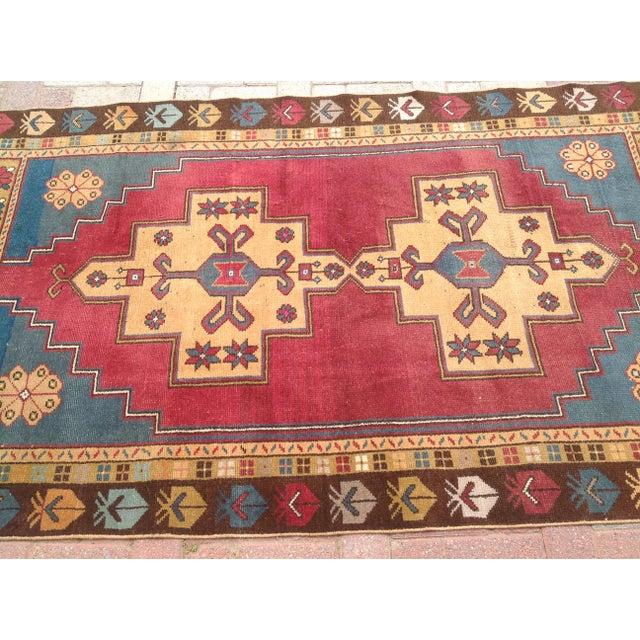 Boho Chic Vintage Anatolian Area Rug - 4′ × 7′7″ For Sale - Image 3 of 7