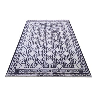 """21st Century Vintage Pasargad Moroccan Hand-Knotted Rug - 6′2"""" × 9′ For Sale"""