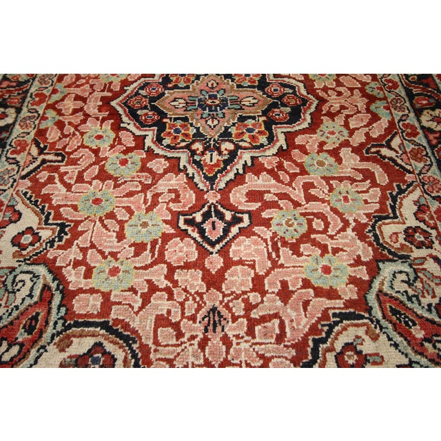 Mid 20th Century Vintage Persian Mahal Rug - 4'1 x 6'3 For Sale - Image 5 of 8