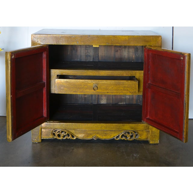 2000s Asian Modern/Art Deco Lacquer Cabinet For Sale - Image 4 of 7