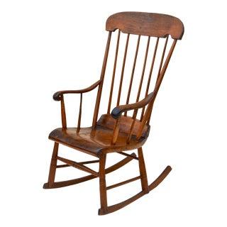 Antique Primitive Boston Rocking Chair C.1840s For Sale