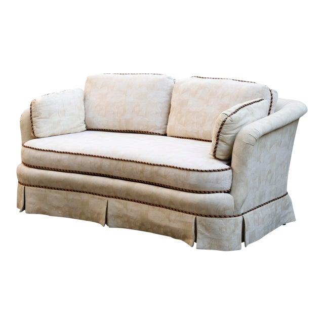 Sherrill Mid Century Style Tuxedo Sofa in Cream - Image 1 of 8