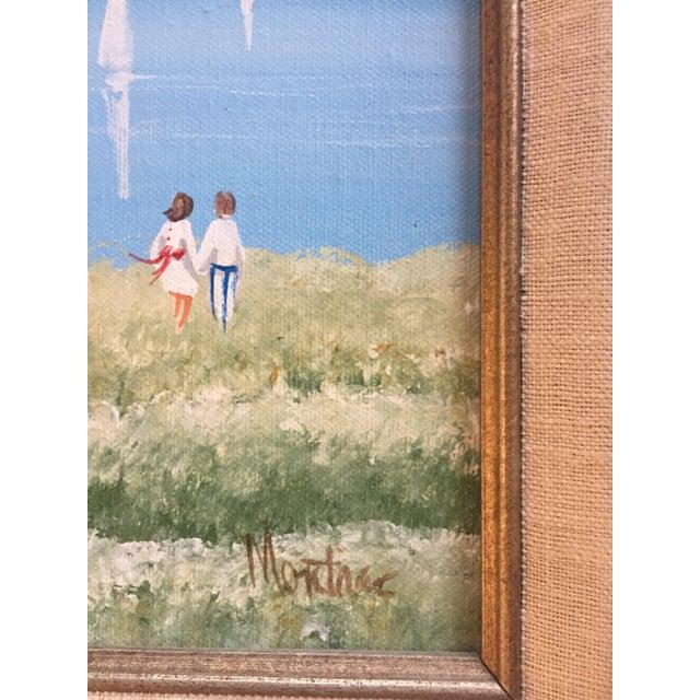 Original Vintage Impressionist Painting by Montrec For Sale - Image 4 of 6