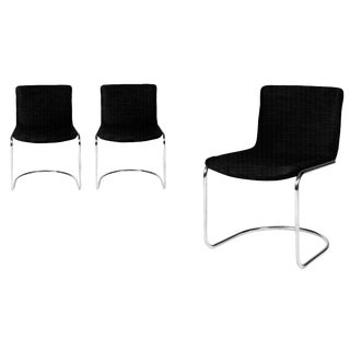 Lens Chairs by Giovanni Offredi for Saporiti - Set of 3 For Sale