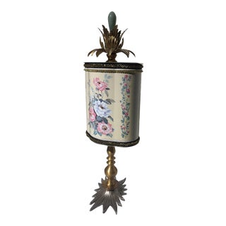 Recycled Floral Butterfly Tea Tin Sculpture For Sale