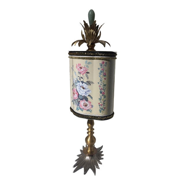 Recycled Floral Butterfly Tea Tin Sculpture - Image 1 of 5