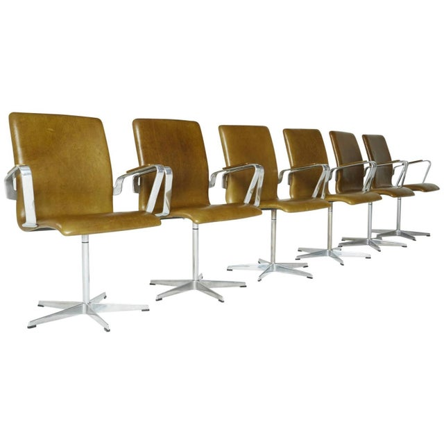 Arne Jacobsen Leather Oxford Chair - Image 3 of 11