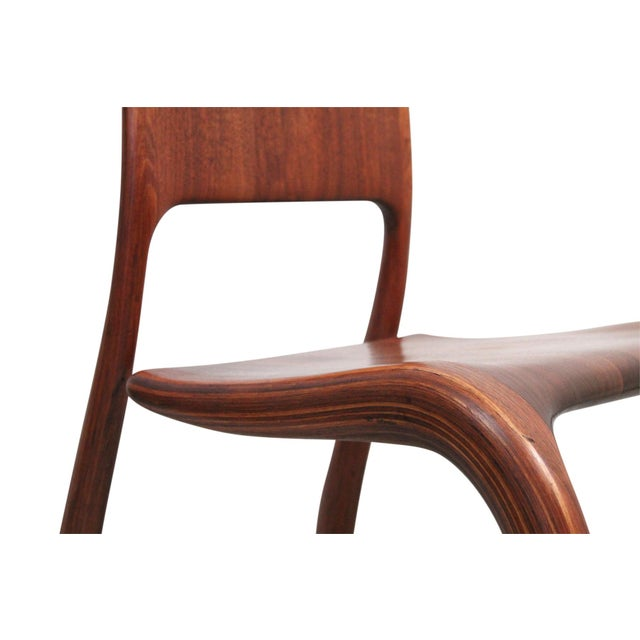 Sculptural Walnut Chair by David Flatt For Sale - Image 9 of 13