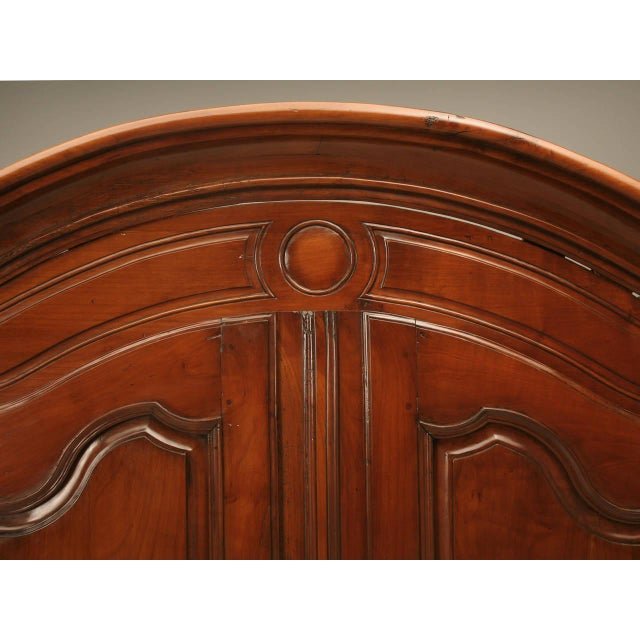 Circa 1800s French Louis XV Style Cherry Wood Armoire - Image 4 of 10