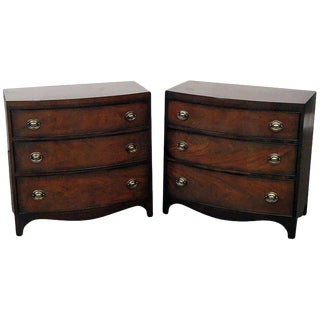 Pair of Mahogany Commodes by Sahon For Sale