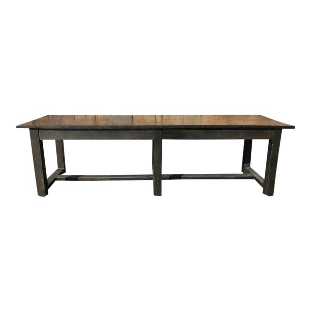 19th Century Painted Farm Table For Sale