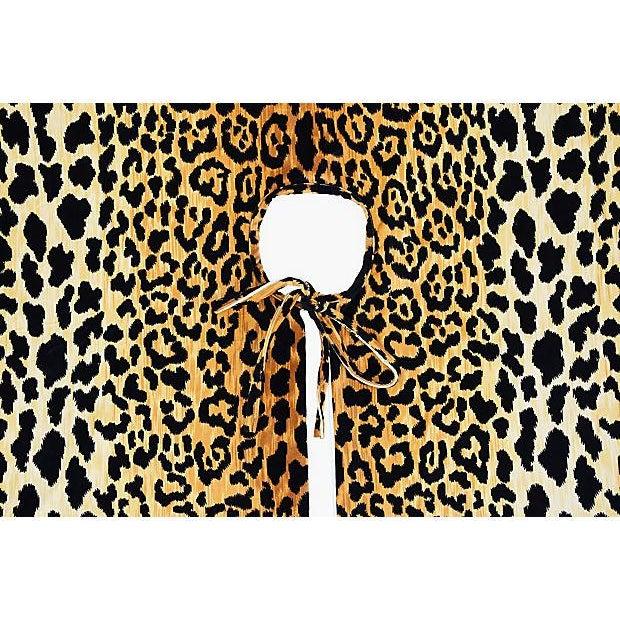 """Custom Tailored X-Large 55"""" Leopard Spot Velvety Christmas Tree Skirt - Image 4 of 9"""
