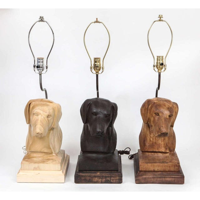 These charming, limited edition dog lamps are hand-carved replicas of a dog sculpture done in three finishes. Choose from...