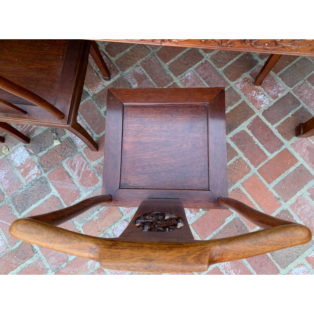 Vintage Solid Rosewood Dining Set - 9 Pieces For Sale - Image 10 of 13
