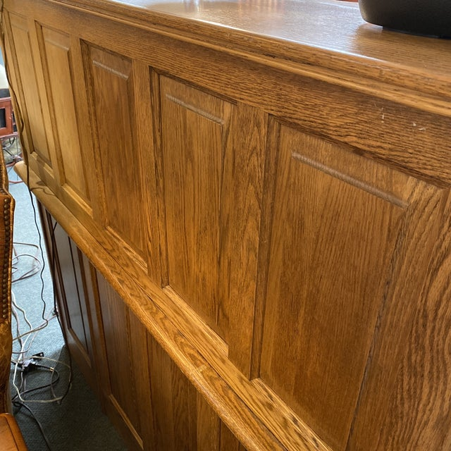 Mid 20th Century Jefferson Oak Roll Top Desk For Sale - Image 10 of 13