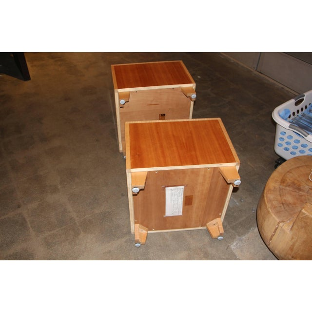 """Wood Joseph Kelly Custom Made """"Rorshach Bunching"""" Tables- A Pair For Sale - Image 7 of 10"""