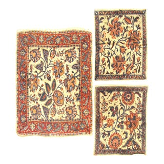 Trio of Vintage Qalmkari Persian Textiles, Set of 3 For Sale