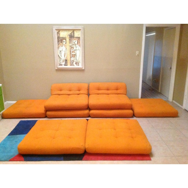 1970s Mid Century Vintage Roche Bobois Mah Jong Modular Sectional Sofa For Sale - Image 5 of 13