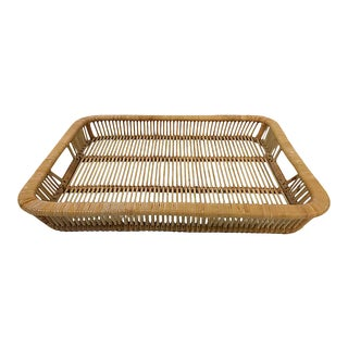 Woven Split Reed Tray For Sale
