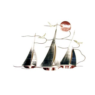 Bovano of Cheshire Handmade Sailboat Regatta Metal Wall Art