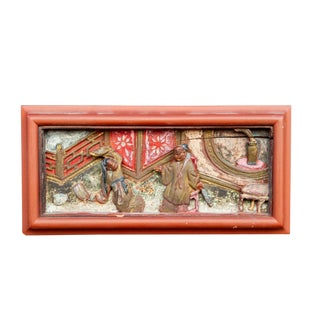 ly Painted Chinese Carving For Sale