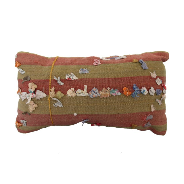 Vintage Turkish Rug Tassel Pillow For Sale In Austin - Image 6 of 6