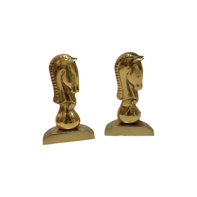 Brass Horse Bookends - Pair - Image 1 of 6