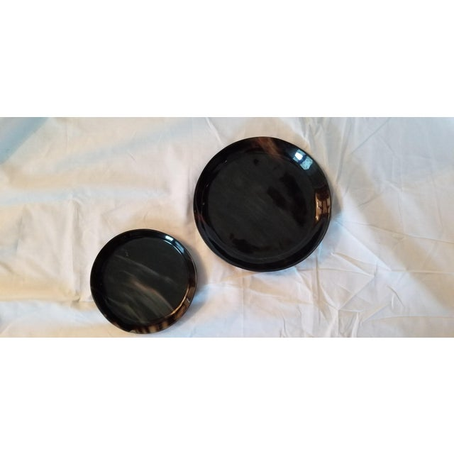 Art Deco Lewes Round Tray Set - a Pair For Sale - Image 3 of 8