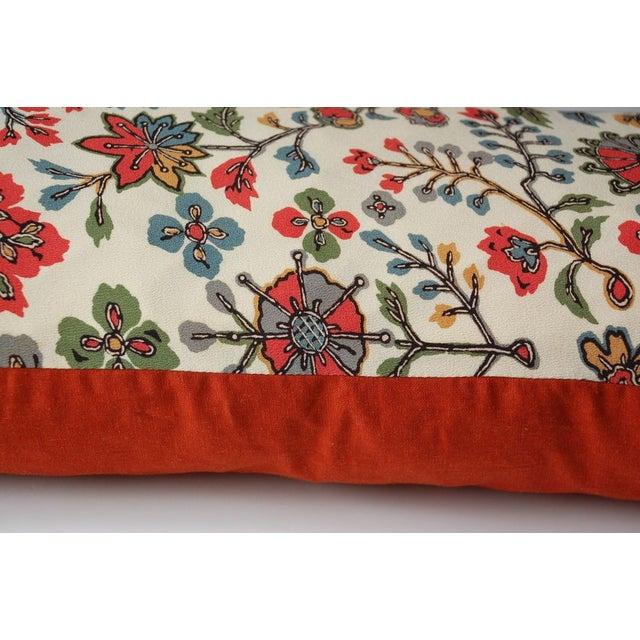 Japanese Vintage Silk Print Textile Pillow - Image 3 of 4