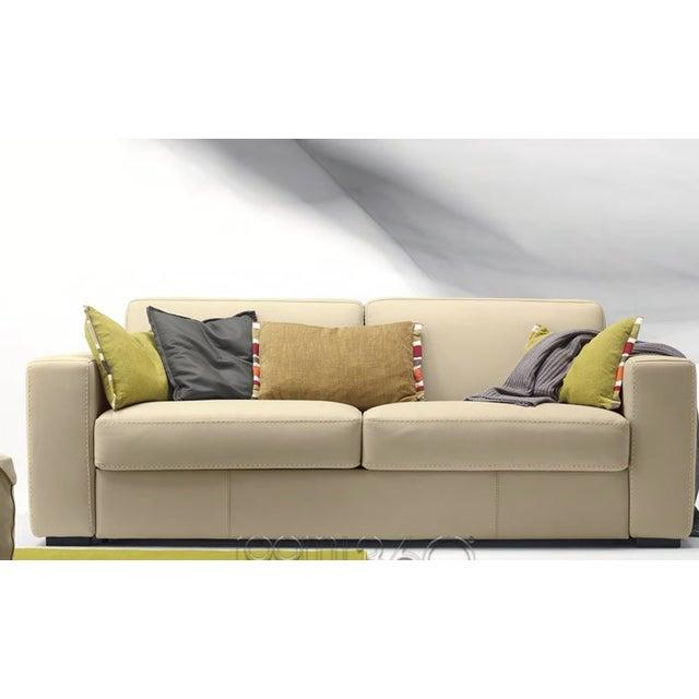 Capri Italian Leather Sleeper Sofa - Image 7 of 7