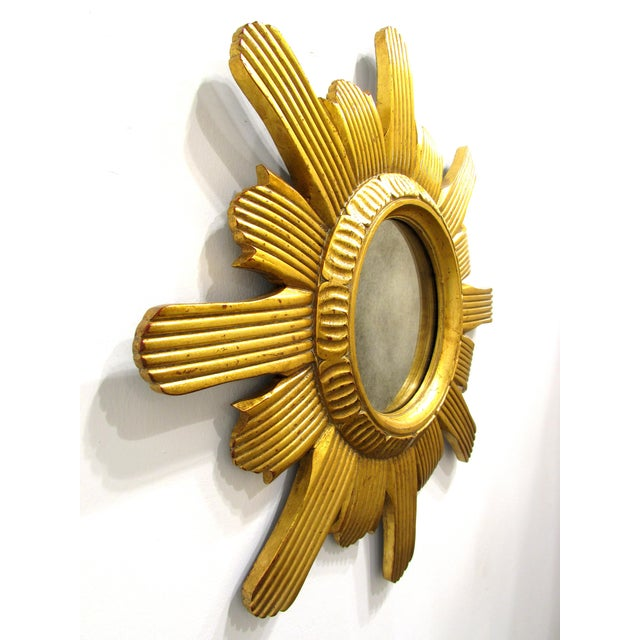 Round Gilded Sunburst Mirror - Image 3 of 6