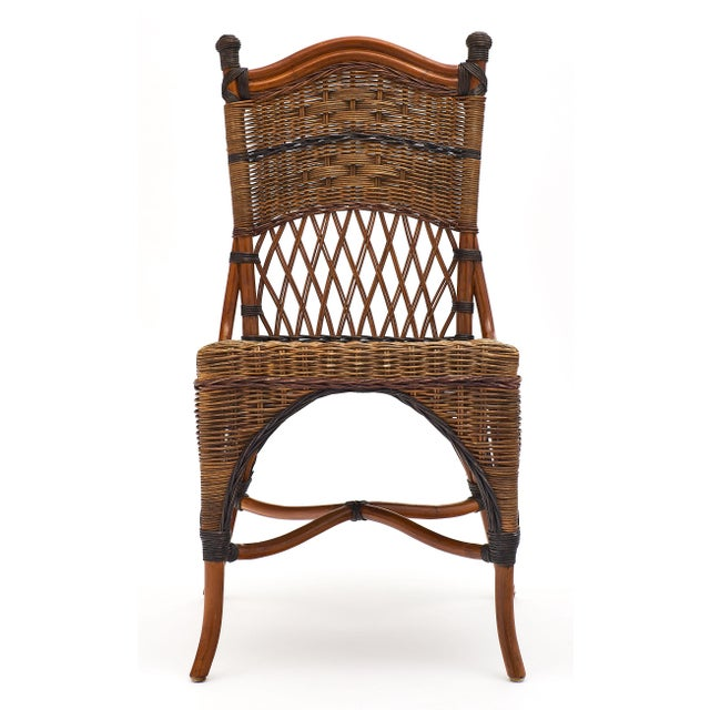 English Wicker Chairs and Table Set For Sale - Image 4 of 10