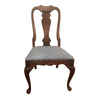 1960s Vintage Queen Anne Style Dining Chair Fancher For Sale