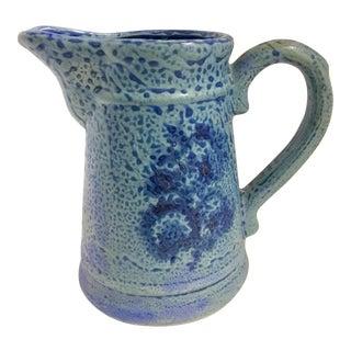 Vintage Periwinkle Blue Ceramic Pitcher For Sale