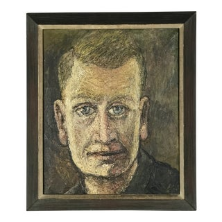 'Imagine in the Mirror' Self Portrait by Olav Mathiesen Oil on Canvas 1961 For Sale