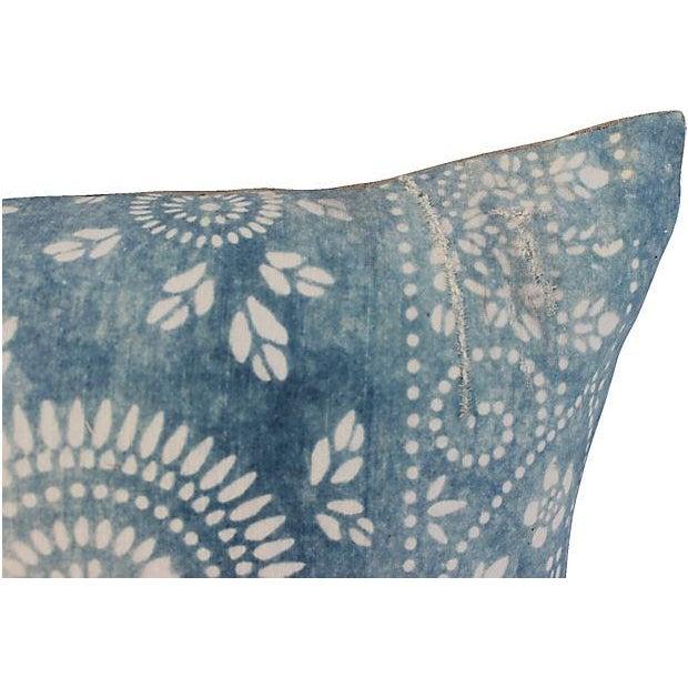 Faded Indigo Batik Body Pillow - Image 4 of 6