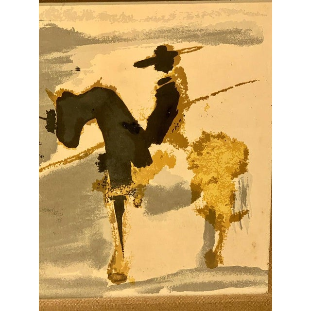 Mid 20th Century Before the Thrust, Silkscrren Litho, After Picasso For Sale - Image 5 of 9