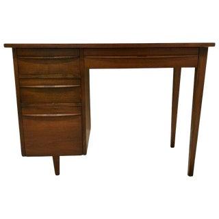 1960s Mid-Century Modern Dark Walnut Desk For Sale