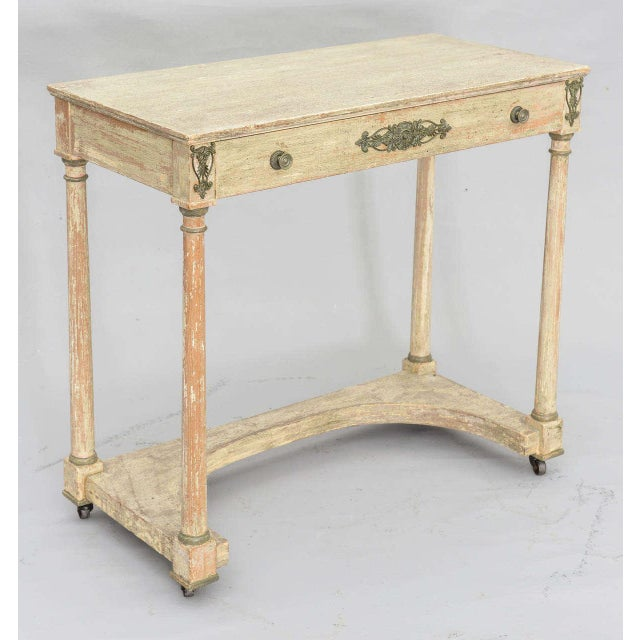 Painted French Empire Console Table For Sale - Image 4 of 11