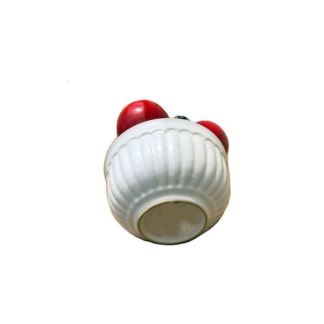 Hollywood Regency Vintage Trompe l'Oeil Porcelain Bowl of Apples For Sale - Image 3 of 4