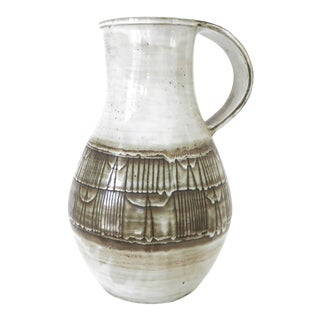 Monumental French Ceramic Pitcher by Jaques Pouchain Atelier Dieulefit For Sale