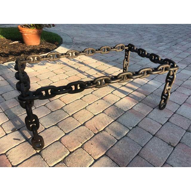 Ship Iron Chain Link Coffee Table For Sale - Image 4 of 10